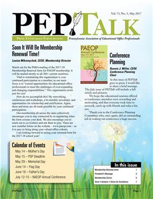 May 2017 PEPTalk
