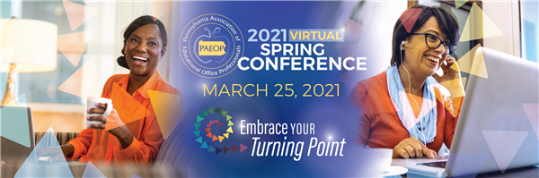 2021 Virtual Conference: March 25, Embrace Your Turning Point